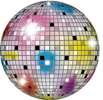 Mirror ball colorful