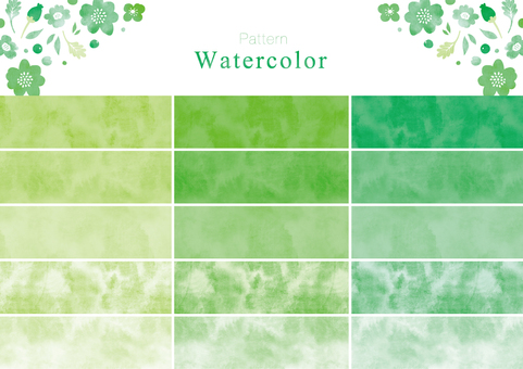 Watercolor pattern swatch part 4 green