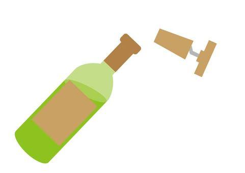 와인의 코르크 마개를 열