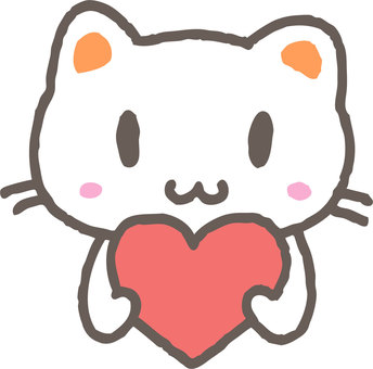 Cat with heart 1