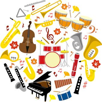 音乐秋天图标管乐器套