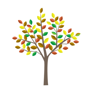 One tree of art - colorful