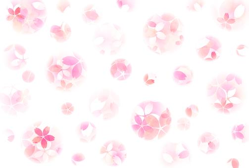 Watercolor ball bokeh cherry post card · wallpaper
