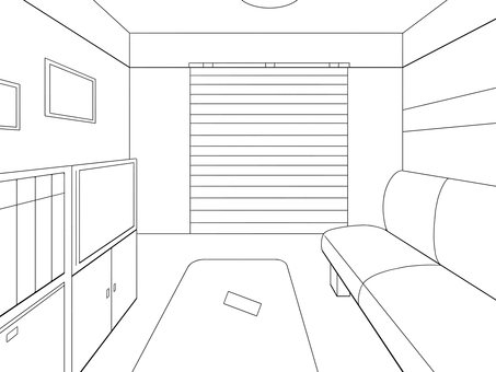 Simple room background line drawing