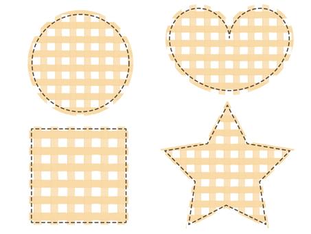 Patchwork check pattern Orange icon