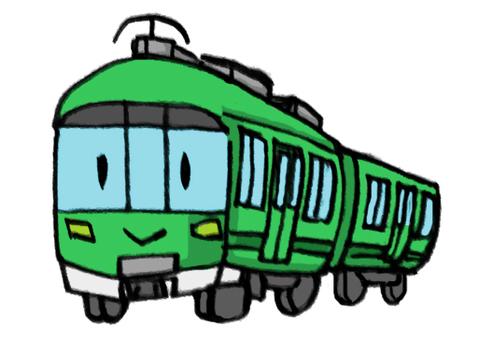 Train carn green