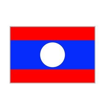 National flag Laos