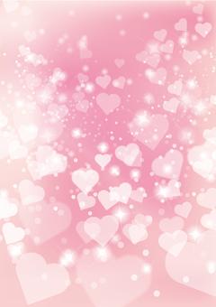 心臟粉紅色垂直