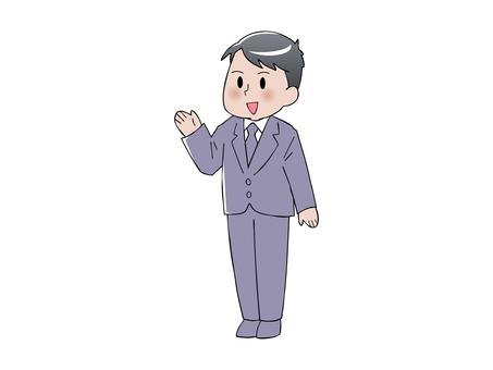 スーツの男性(手のひら)