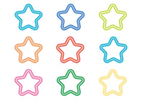 Christmas neon · star (transparent background)
