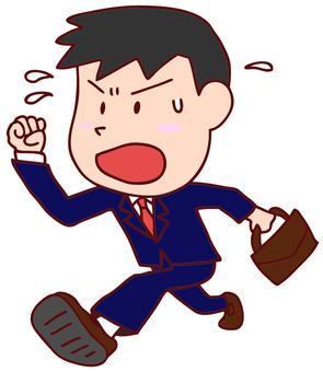 Illustration of a running businessman