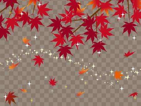 Japanese style autumn background maple