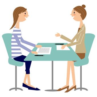 서류 여성 2 명