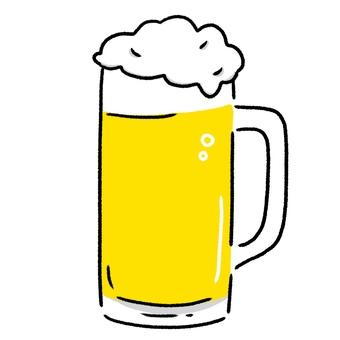 杯子啤酒逗人喜愛的手拉