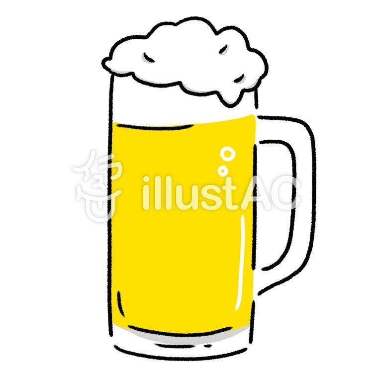 ビールの入ったジョッキ 可愛い手描きイラスト No 無料イラストなら イラストac