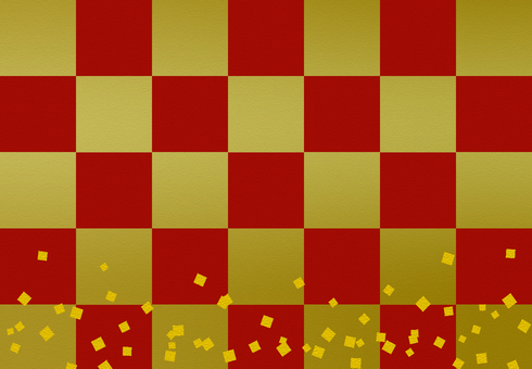 Red gold checkered pattern