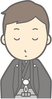 Groom Kimono - Kurashiki Bow - Bust