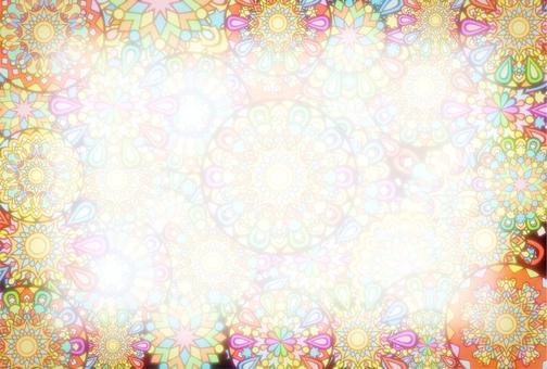 Sparkling fireworks postcard 2