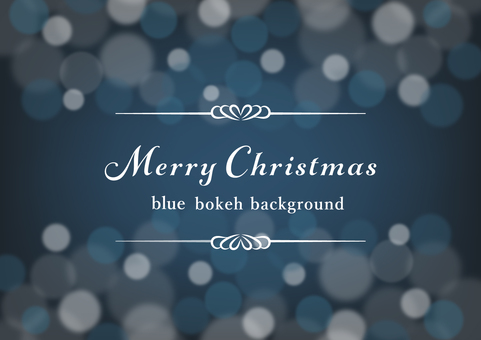 Christmas color blur background material (blue)