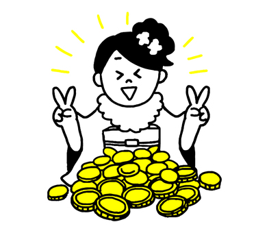 Women who participated in gold coins and adult ceremonies (simple)