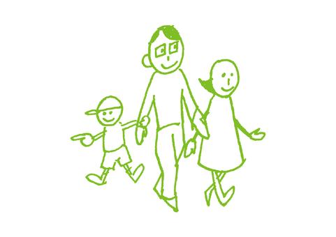 Rustic family _ walking _ green