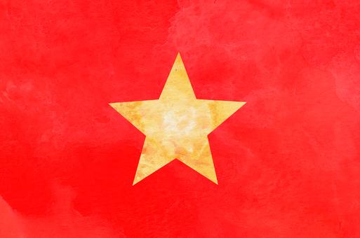 국기 수채화 베트남