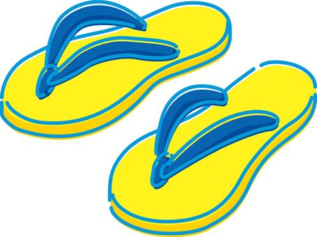 Summer image beach sandals