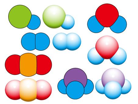 Color molecule model