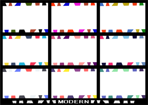 Card design: Modern