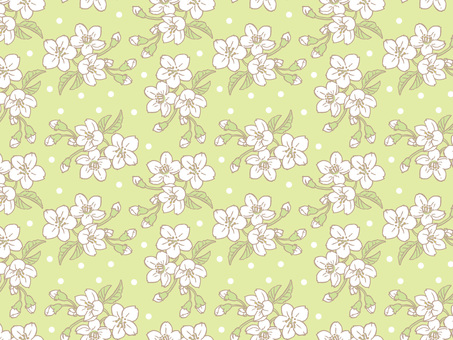 Spring cherry Tile pattern (repeat) C04