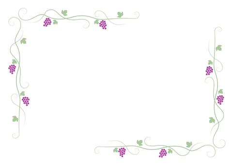 Grape frame (red grape)
