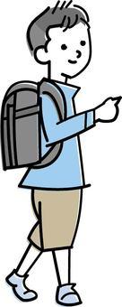 Men with school bags