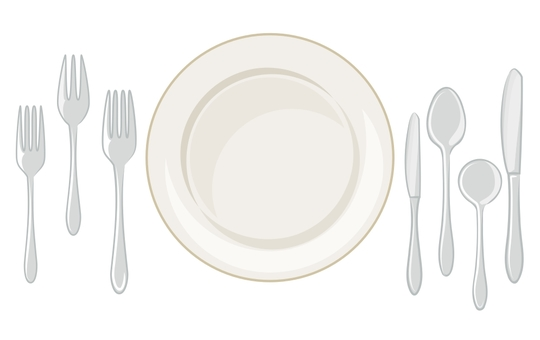 Table setting with color