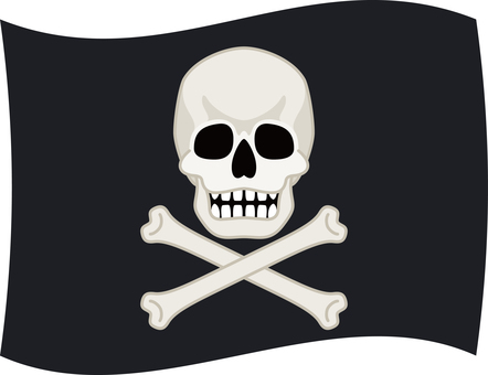 Pirate flag of the skull
