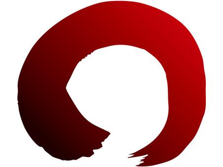 Brush line (circle, red → ink)