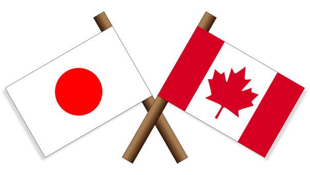 Flag Japan × Canada