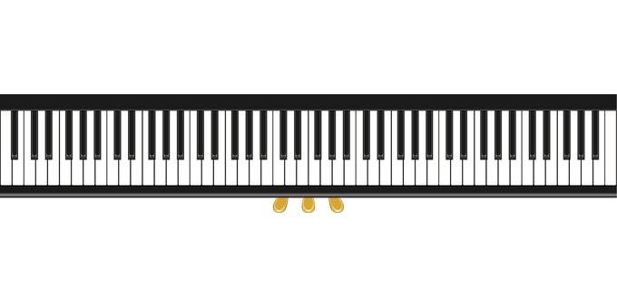 피아노 건반 키보드 페달