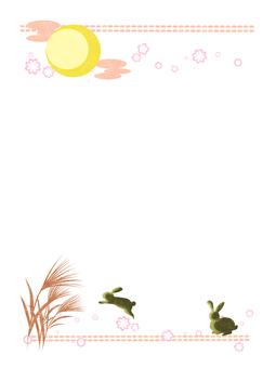 お月見フレーム(縦)