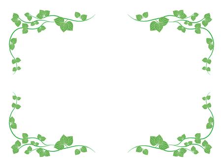 Frame with leaf motif