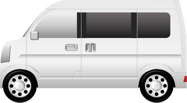 Minivan (car) White