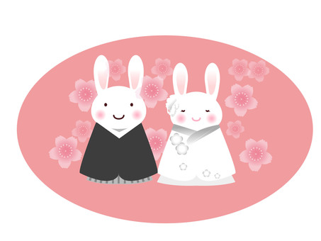 Rabbit wedding (Japanese dress) 2