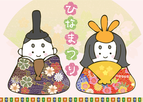 Illustration that can be used for doll festival