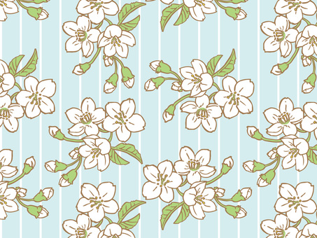 Spring cherry Tile pattern (repeat) A02
