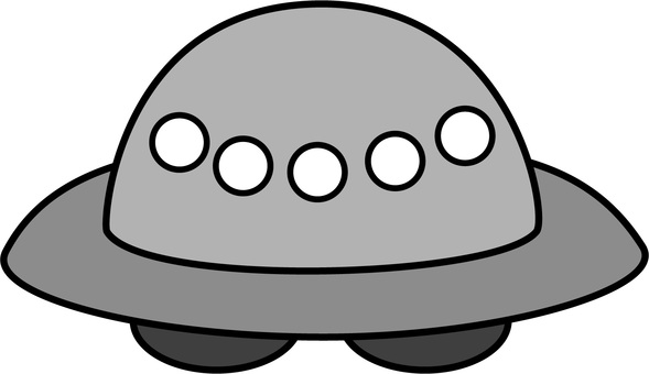UFO monochrome simple