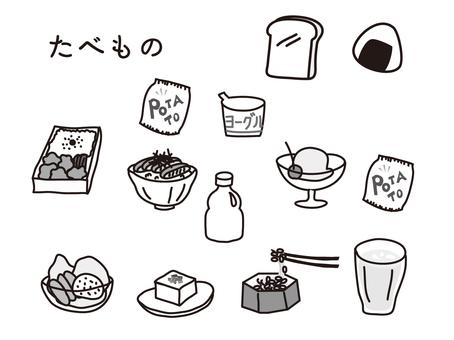手绘垃圾食品