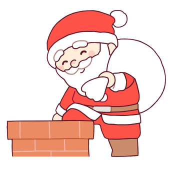 Santa who enters the chimney