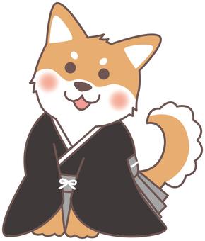 New Year's Dog (Gray Black · Kimono)