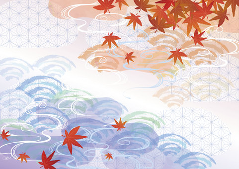 Japanese pattern material 010 background map background