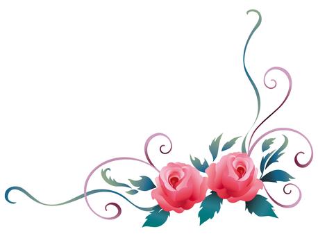 玫瑰的装饰