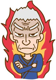 Craftsman father burning in anger